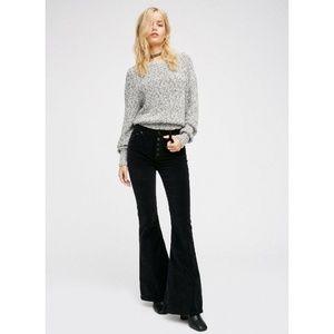 New Free PEOPLE Soma Velvet slim Flared Pants 24